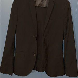 Black men's two-piece suit
